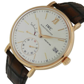 IWC Portofino IW510107 Hand Wound Eight Days 45mm Rose Gold Mens Watch
