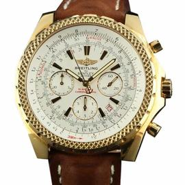 Breitling Bentley Chronograph K25362 Automatic Gold Brown Mens Watch