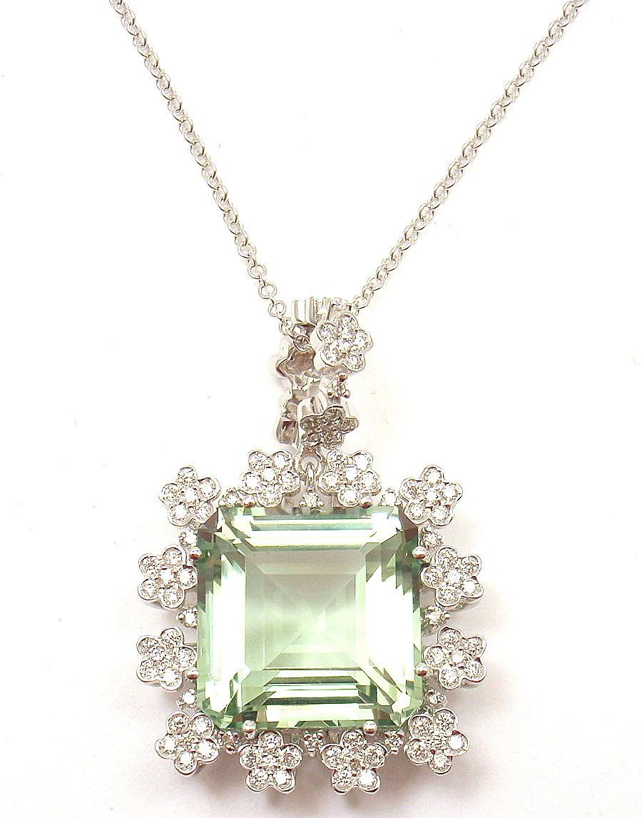 """""Pasquale Bruni 18K White Gold Marilyn Diamond Gem Necklace"""""" 301571"