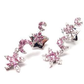Pasquale Bruni 18K White Gold Diamond Pink Sapphire Earrings