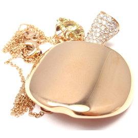 Pasquale Bruni 18K Rose Gold Diamond & Peridot Necklace