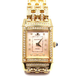Jaeger-Lecoultre 267.1.86 Reverso 18K Yellow Gold Diamond Watch