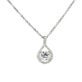 Hearts On Fire 18K White Gold Diamond Necklace Pendant