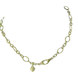 Judith Ripka 18K Yellow Gold Diamond Charm Romance Chain Necklace