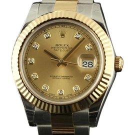 Rolex 116333 Datejust II Steel & Gold Champagne Diamond Watch