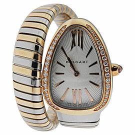 Bulgari Serpenti Tubogas sp35c6spgd.1t Stainless Steel/Rose Gold 35mm Watch