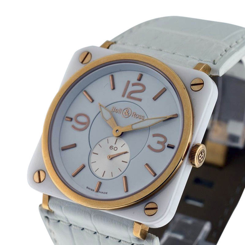 """Image of """"Bell & Ross 18K Rose Gold and Ceramic 39mm Unisex Watch"""""""