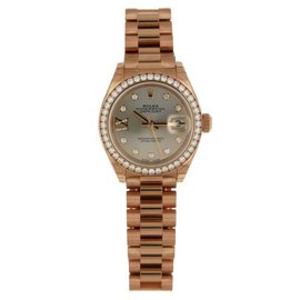 Rolex Datejust 279135RBR Rose Gold Sundust Diamond President 28mm Watch