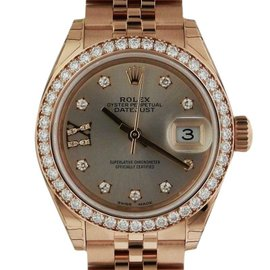 Rolex Datejust 279135RBR Rose Gold Sundust Diamond Jubilee 28mm Watch