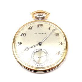 Van Cleef & Arpels 18K Two Tone Gold Vintage Pocket 1920'S Watch