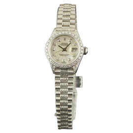 Rolex Datejust 69179 18K White Gold Diamonds Mother Of Pearl Dial 26mm Watch