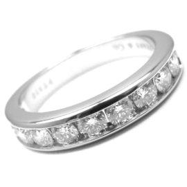 Tiffany & Co. Platinum Diamond Half Circle Band Ring