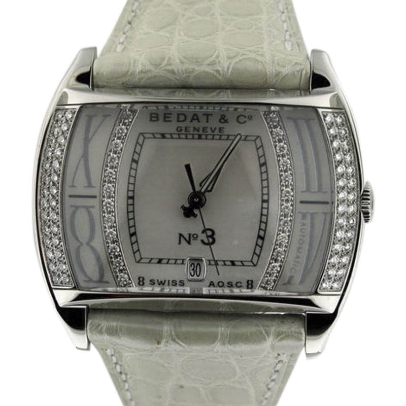 "Image of ""Bedat & Co. 307.030.909 Stainless Steel Diamond Dial 36mm Womens Watch"""