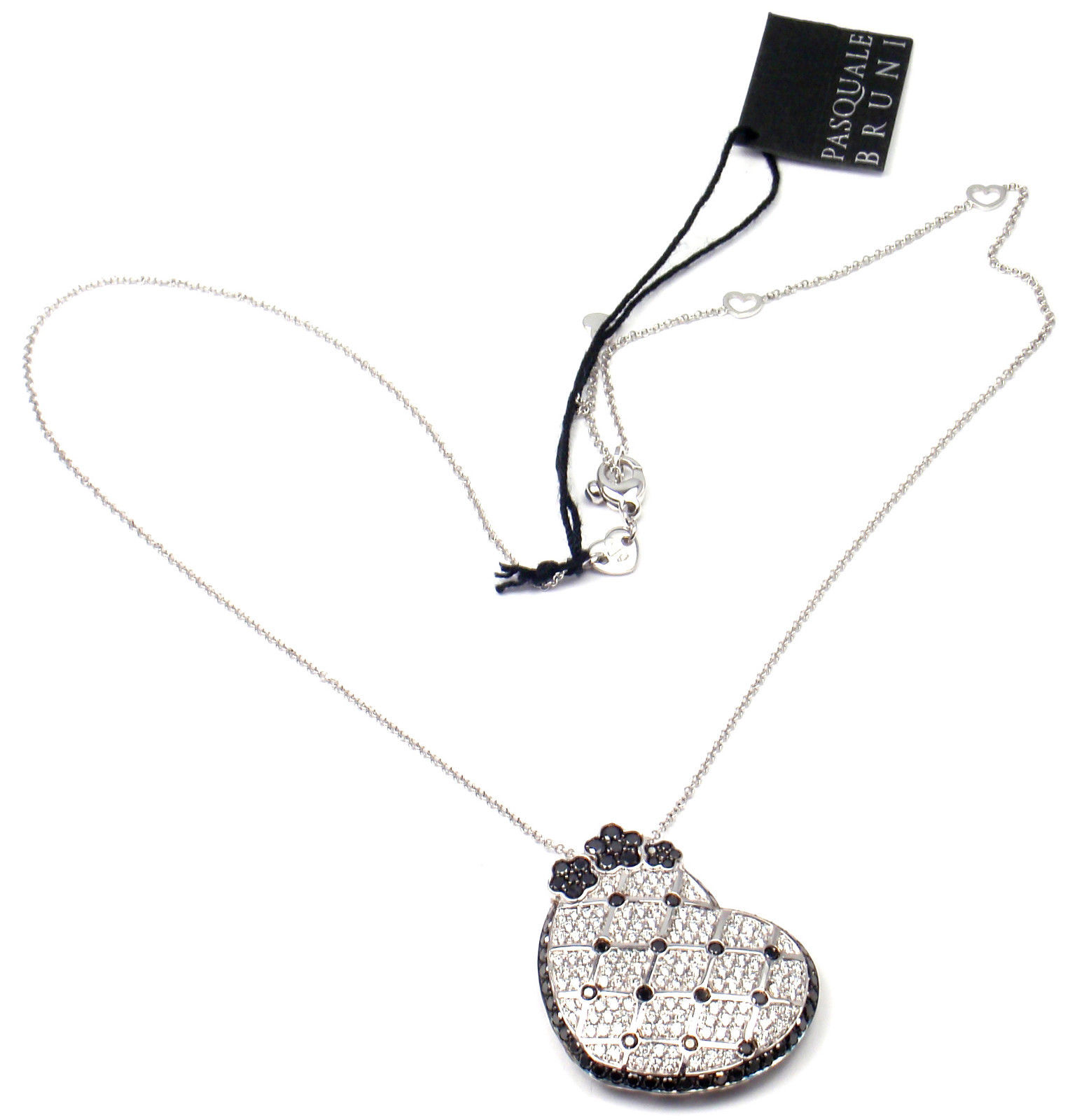 """""Pasquale Bruni 18K White Gold Lulu Diamond Pendant Necklace"""""" 433244"