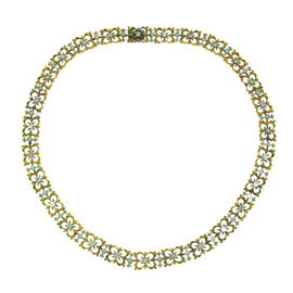 Buccellati 18K Yellow And White Gold Diamond Necklace