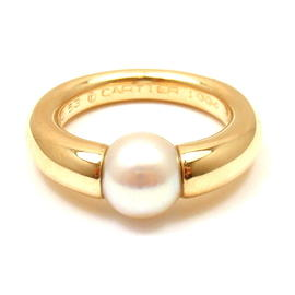 Cartier 18K Yellow Gold Pearl Band Ring Size 6