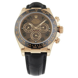Rolex Daytona 116515 Rose Gold Chocolate Dial Ceramic Bezel Strap 40.0 mm Mens Watch