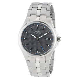 Caravelle By Bulova Men's Grey Dial Stainless Steel Watch 43B124