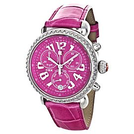 Michele CSX MW03M01A1926 Chronograph Pink Leather Watch