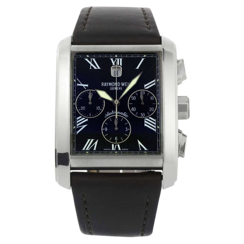 """Image of """"Raymond Weil 4875-Stc-00209 Don Giovanni Automatic Chrono Leather Mens"""""""