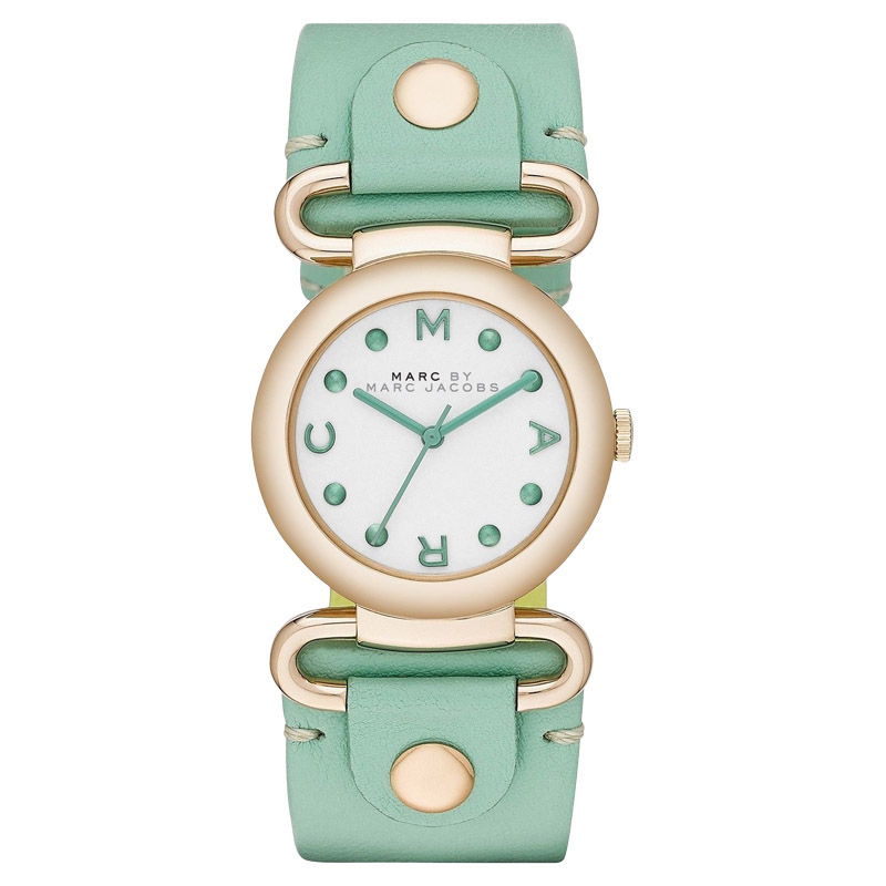 "Image of ""Marc by Marc Jacobs Mbm1306 White Green Molly Womens Watch"""