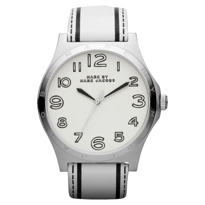 "Image of ""Marc by Marc Jacobs Mbm1230 Leather White Dial Quartz Womens Watch"""