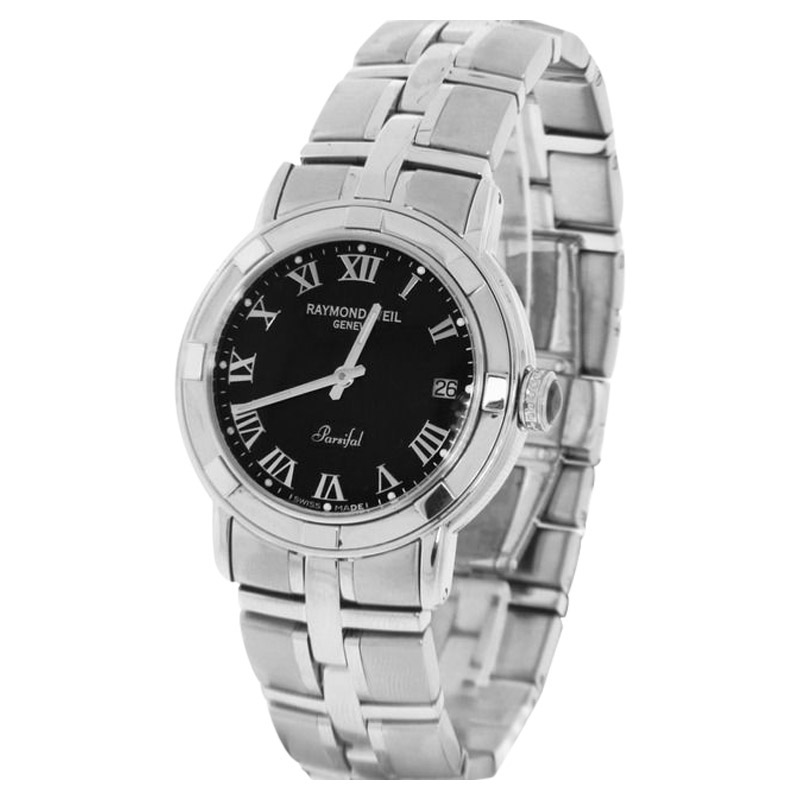 "Image of ""Raymond Weil 9541-St-00208 Parsifal Black Dial Stainless Steel Mens"""