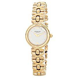 Raymond Weil 9827G-TV Geneve White Dial Gold Bracelet Watch