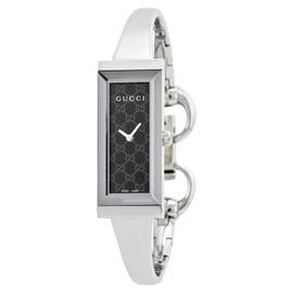 Gucci YA127512 Black Dial Stainless Steel Bracelet Quartz Watch