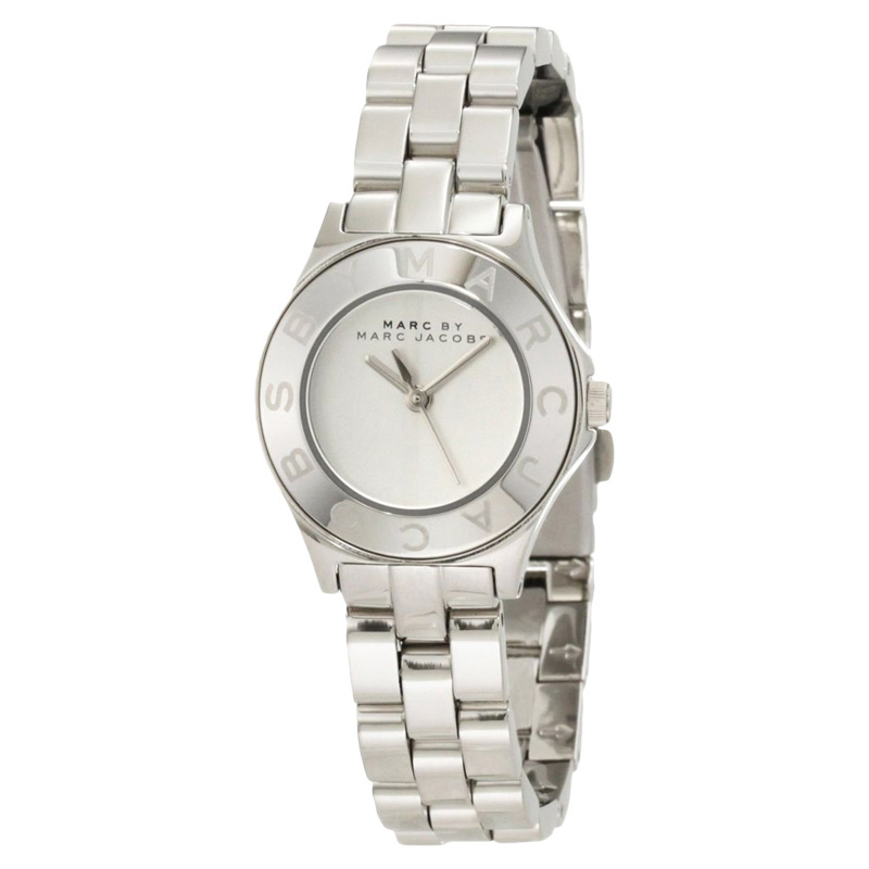 "Image of ""Marc By Marc Jacobs Mbm3130 Blade Mini Silver Tone Stainless Steel"""