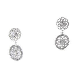 Leslie Greene 925 Sterling Silver Amalia Diamond Drop Earrings