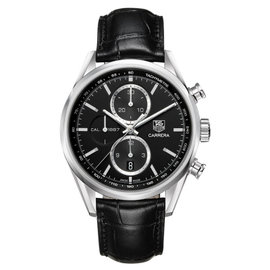 Tag Heuer CAR2110.FC6266 Carrera Automatic Chronograph Black Dial Watch
