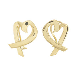 Tiffany & Co. 18K Yellow Gold Paloma Picasso Heart Earrings