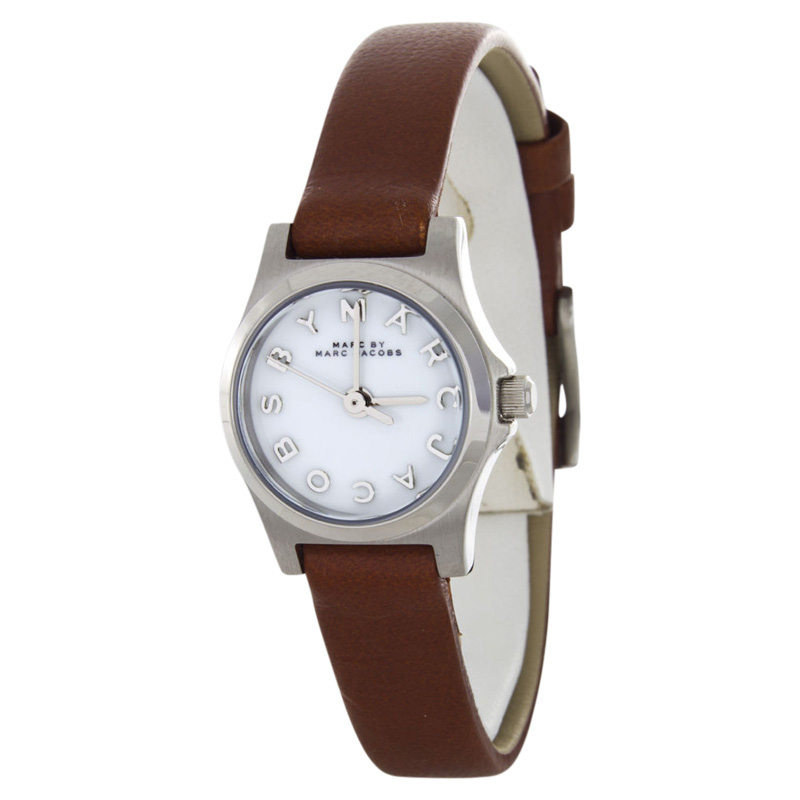 "Image of ""Marc by Marc Jacobs Mbm1280 Brown Leather Strap Womens Watch"""