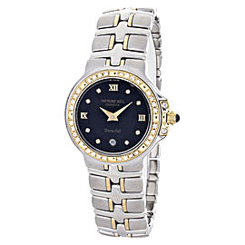 Raymond Weil 9990-DBD Black Dial Two Tone Parsifal Womens Watch
