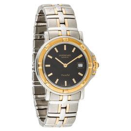 Raymond Weil 9530-BK Parsifal Black Dial Two Tone Ladies Watch