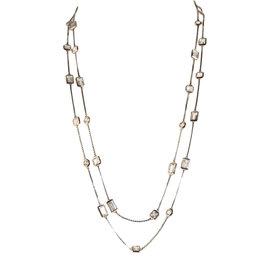 Michael Kors Silver Cocktail Party Double Wrap Gold Tone Necklace