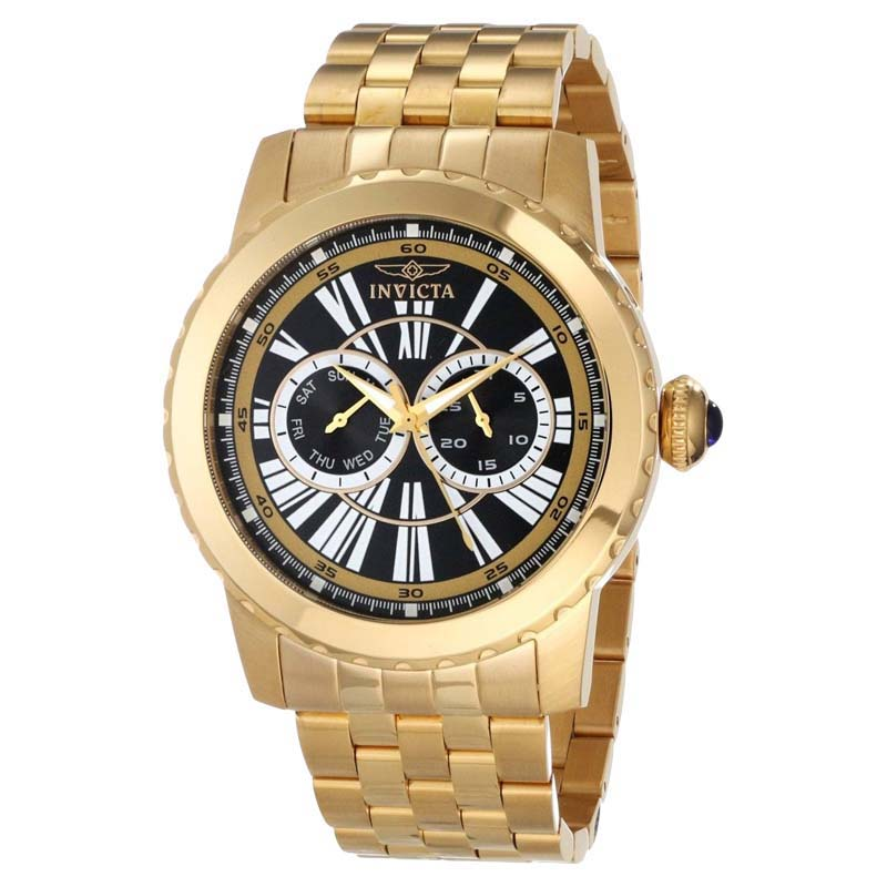 "Image of ""Invicta 14589 Specialty Black Day & Date Dial Gold-tone Steel Quartz"""