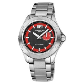 Raymond Weil 8300-SR1-20041 Sport Stainless Steel Black & Red Dial Mens Watch
