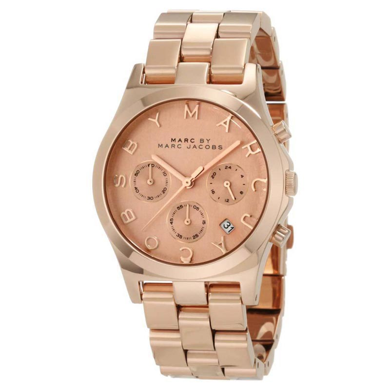"Image of ""Marc by Marc Jacobs Mbm3107 Rose Gold Stainless Steel Chronograph"""