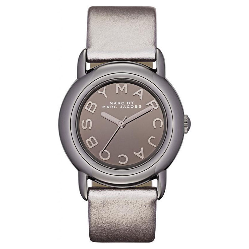 "Image of ""Marc by Marc Jacobs Mbm1220 Marci Mirror Dial Gray Leather Quartz"""