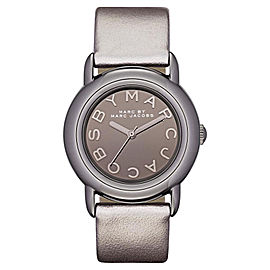 Marc by Marc Jacobs MBM1220 Marci Mirror Dial Gray Leather Quartz Womens Watch