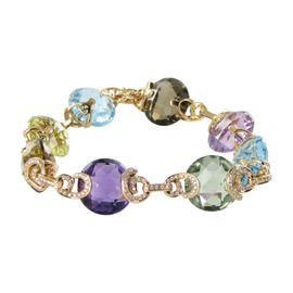 Bellarri 18K Rose Gold Diamonds and Mixed Gems Caberet Bracelet