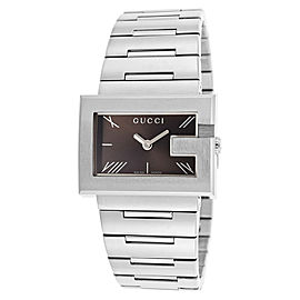 Gucci YA100505 Black Dial Stainless Steel Bracelet Quartz Womens Watch