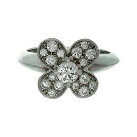 Van Cleef & Arpels Trefle Diamond 18K White Gold Ring