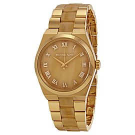 Michael Kors Channing MK6152 Gold Dial Gold Tone Stainless Women's Watch