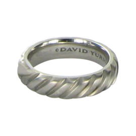 David Yurman Gray Modern Cable Titanium Band Ring