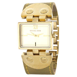 Michael Kors MK2365 Gold Tone & Golden Accents Square Face Women's Watch