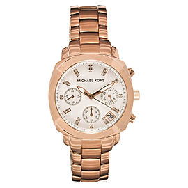 Michael Kors MK5336 Rose Gold Stainless Steel MOP Dial Crystal Chronograph Watch