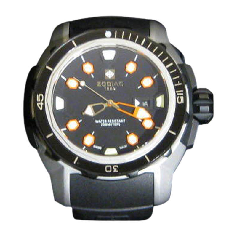 "Image of ""Zodiac Racer Zo8606 Stainless Steel & Rubber 50mm Watch"""